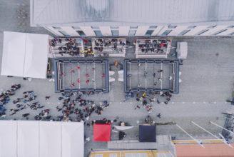 Flygbild över Arken under Street Festival