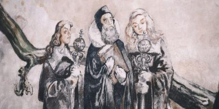 Detalj av Kårens väggmålning.