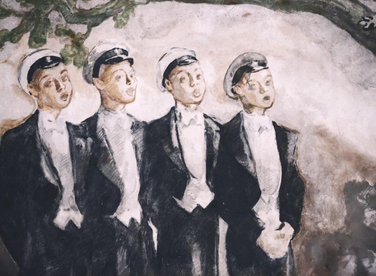 Kårens väggmålning.