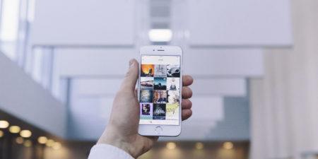 Bild på en telefon
