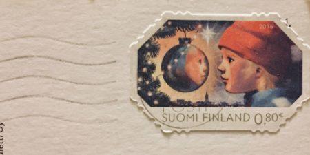 Finskt julfrimärke från 2015.