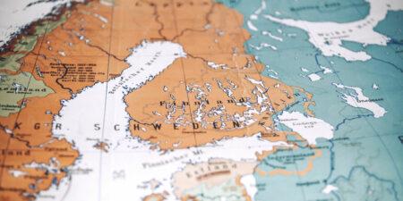 En gammal karta över stormakten Sverige.