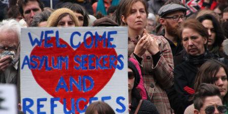 Demonstration för flyktingar