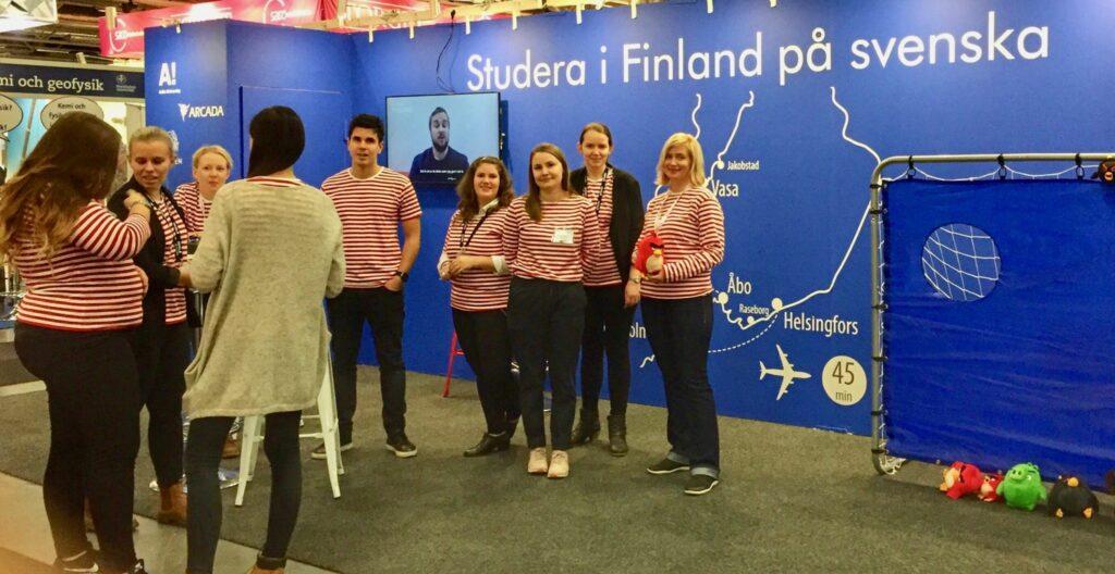 Finlands monter på Saco-mässan.
