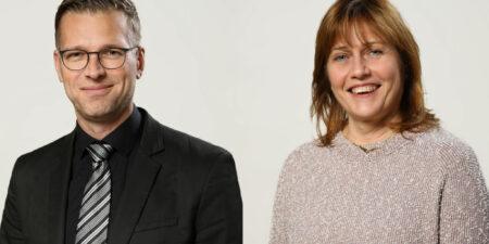 Vice rektorerna Niklas Sandler och Christina Nygren-Landgärds