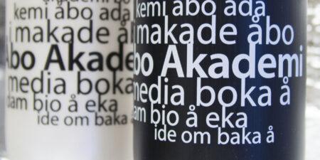 ett ordmoln av anagram av namnet Åbo Akademi