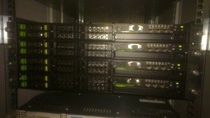 HPC cluster of four RX200 S6 servers