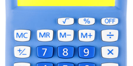 Calculator With Workshop On Display Isolated