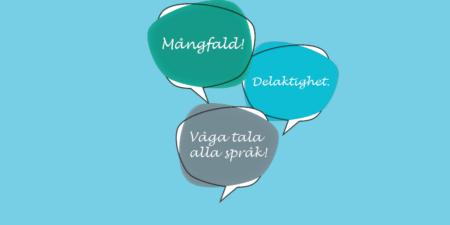 Pratbubblor som tangerar projektet Språkpärla