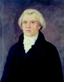 painted portrait of Johan Gadolin