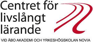 Logotypen för Centret för livslångt lärande vid Åbo Akademi och Yrkeshögskolan Novia.