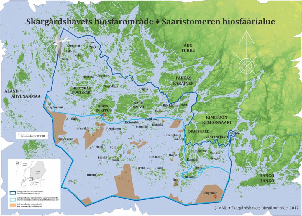 Karta över biosfärområdet