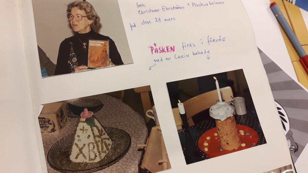 Bild på bilder i en klippbok