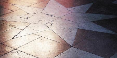 golvet med stjänrmönster i gamla akademihuset