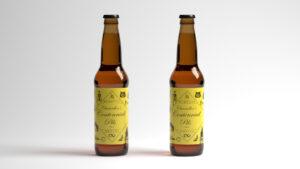 två flaskor öl