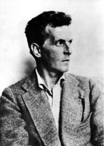 Svartvitt porträtt på Ludwig Wittgenstein.