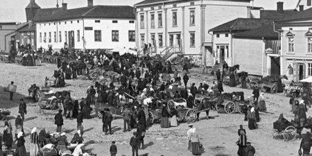 Marknad i Kristinestad 1900