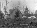 Husö biologiska station, Gula huset, äldre svartvit foto