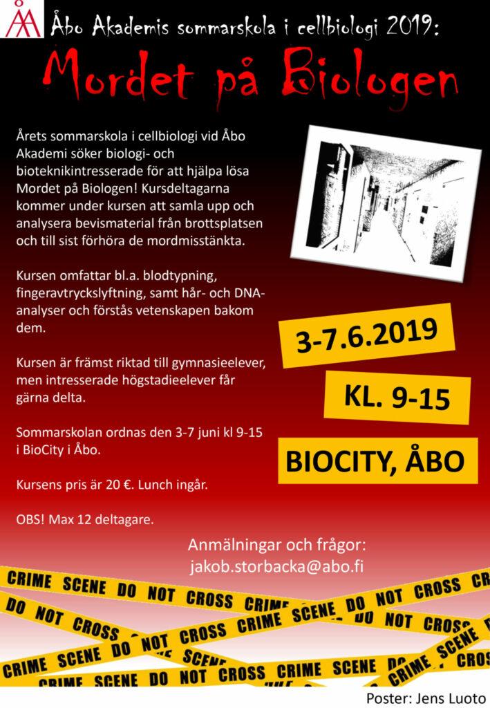Info om sommarskolan 2019.