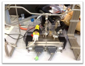Sensor och elektronik för exeperiment med lättflyktiga organiska föreningar.