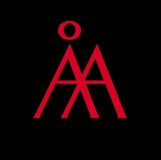 Åbo Akademis logotyp i rött