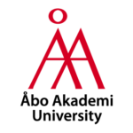 Åbo Akademis engelska logotyp i rött