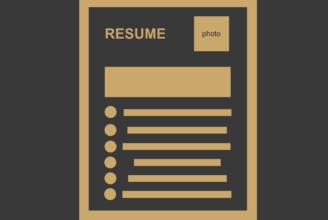 grafisk bild CV resume