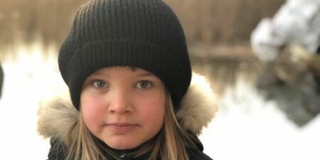sjuårig flicka