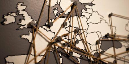 En bild av en karta över Europa.