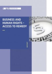 Cover of a report on business and human rights