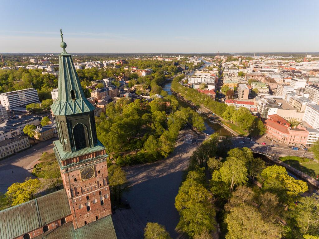 Näkymä Turkuun.