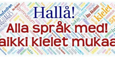 Logo för projektet Alla språk med.