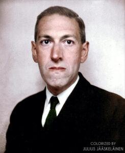 Porträttfoto på H.P. Lovecraft.